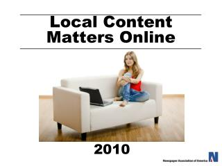 Local Content Matters Online