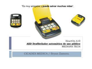 HeartOn A10  AED Desfibrilador autom tico de uso p blico    MEDIANA TECH