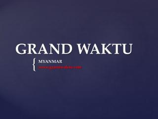 Investasi di Myanmar. - Pembentukan Perusahaan di Myanmar