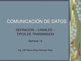 COMUNICACI N DE DATOS