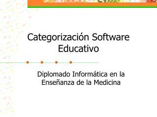 Categorizaci n Software Educativo