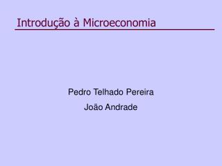 Introdu  o   Microeconomia