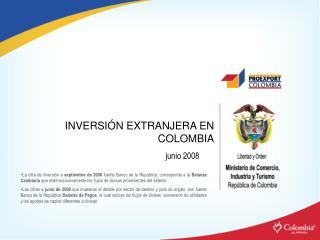 INVERSI N EXTRANJERA EN COLOMBIA