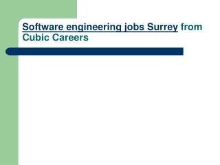 Software engineering jobs Surrey