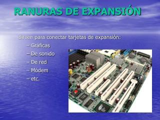 RANURAS DE EXPANSI N