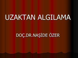 UZAKTAN ALGILAMA  DO .DR.NASIDE  ZER