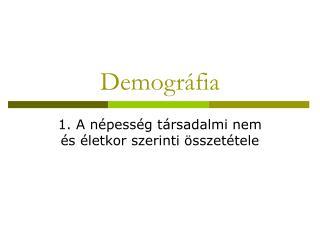 Demogr fia