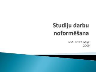 Studiju darbu noforme ana