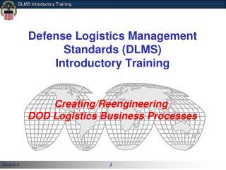 DLA Logistics  Management Standards Formerly DLMSO