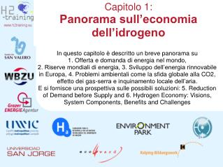 Capitolo 1:  Panorama sull economia dell idrogeno