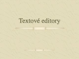Textov  editory