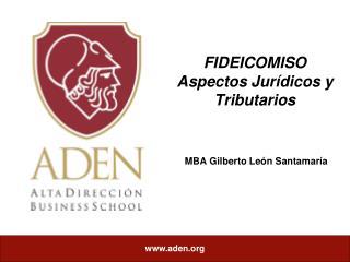 FIDEICOMISO Aspectos Jur dicos y Tributarios