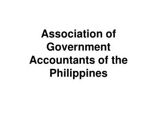 Association of Government Accountants of the Philippines