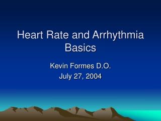 Sinus and Atrial Rhythms