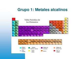 Grupo 1: Metales alcalinos
