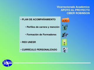 Vicerrectorado Acad mico APOYO AL PROYECTO CIBER ROBINSON