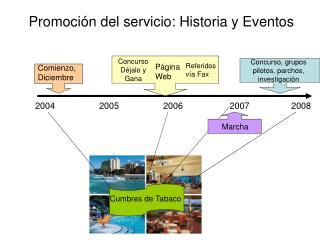 Promoci n del servicio: Historia y Eventos