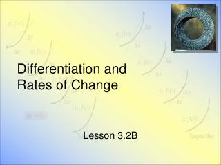 Differentiation and  Rates of Change