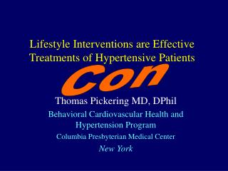 Lifestyle Interventions are Effective Treatments of Hypertensive Patients