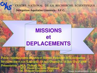 D l gation Aquitaine-Limousin - S.F.C.