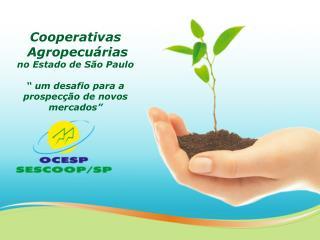 Cooperativas   Agropecu rias  no Estado de S o Paulo    um desafio para a prospec  o de novos mercados
