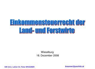 Wieselburg  18. Dezember 2008