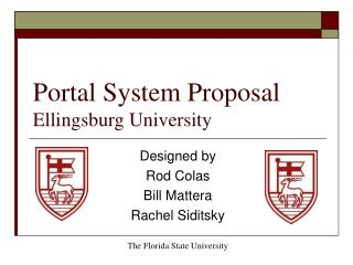 Portal System Proposal Ellingsburg University