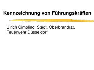 Kennzeichnung von F hrungskr ften