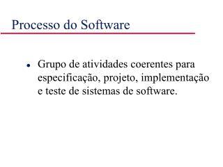 Processo do Software