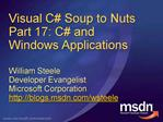 Visual C Soup to Nuts Part 17: C and Windows Applications