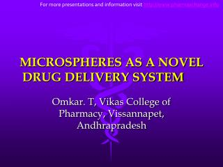MICROSPHERES AS A NOVEL DRUG DELIVERY SYSTEM