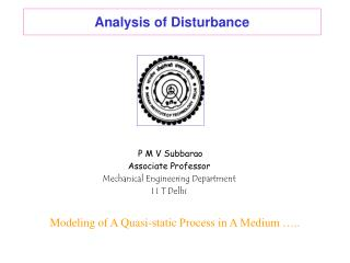 Analysis of Disturbance