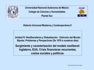 Historia Universal Moderna y Contempor nea II