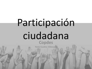 Participaci n ciudadana