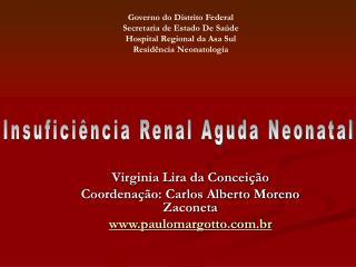 Virginia Lira da Concei  o Coordena  o: Carlos Alberto Moreno Zaconeta paulomargotto.br