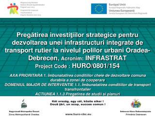 Pregatirea investitiilor strategice pentru dezvoltarea unei infrastructuri integrate de transport rutier la nivelul poli