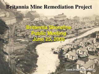Britannia Mine Remediation Project
