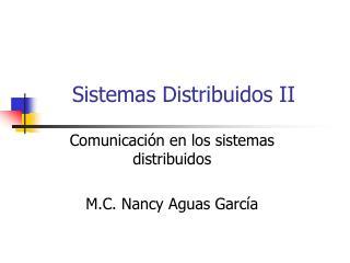 Sistemas Distribuidos II