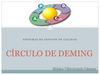 C RCULO DE DEMING