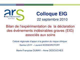 Colloque EIG