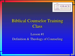 Biblical Counselor Training Class