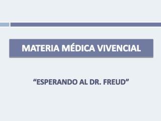 MATERIA M DICA VIVENCIAL