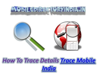 Trace Mobile India