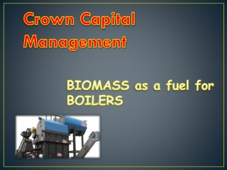 BIOMASS as a fuel for BOILERS