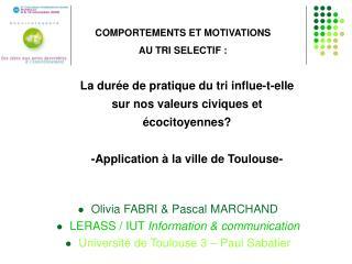 Olivia FABRI  Pascal MARCHAND LERASS