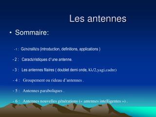 Les antennes