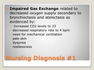 Nursing Diagnosis 1
