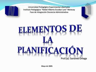 Universidad Pedag gica Experimental Libertador Instituto Pedag gico  Rafael Alberto Escobar Lara  Maracay Fase de Integr
