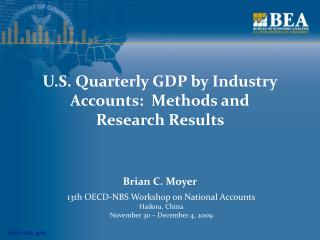 U.S. Quarterly GDP by Industry Accounts:  Methods and  Research Results