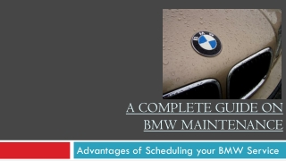 A Complete Guide On BMW Maintenance